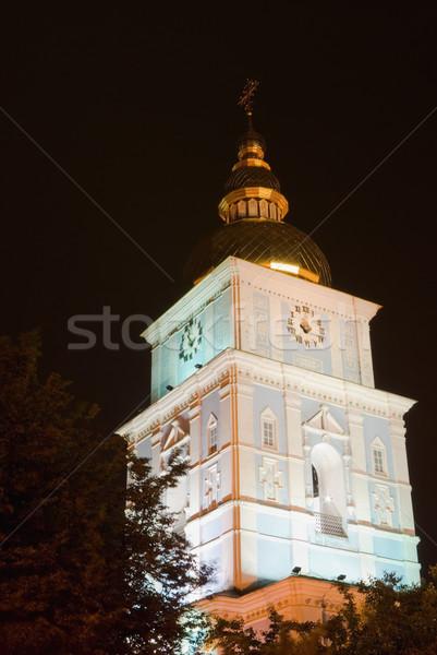 Nacht orthodox kerk kruis lamp Stockfoto © vrvalerian