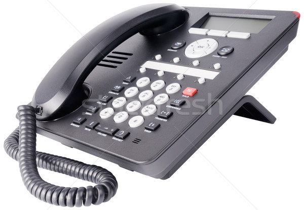 Office IP telephone isolated on white Stock photo © vtls