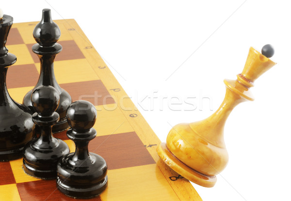 Falling chess queen Stock photo © vtls