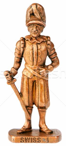 Savaşçı kılıç bronz minyatür eski yalıtılmış Stok fotoğraf © vtls