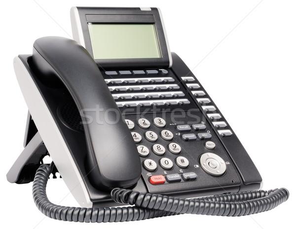 Digitale telefoon kantoor ingesteld lcd geïsoleerd Stockfoto © vtls