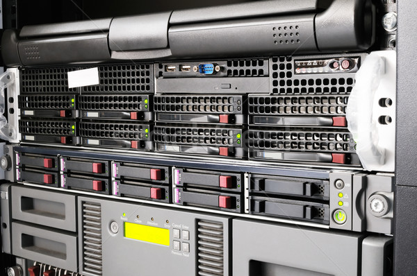 Stock photo: Rack servers