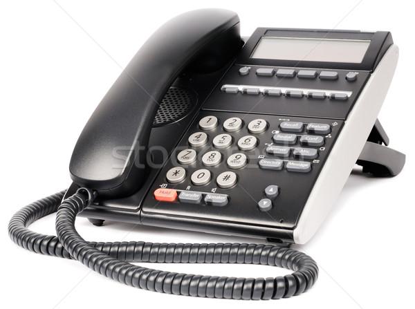 Dijital telefon beyaz ofis ayarlamak lcd Stok fotoğraf © vtls