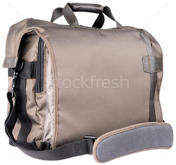 Schouder zak witte uitrusting geïsoleerd Stockfoto © vtls