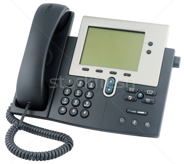 Office IP telephone above view Stock photo © vtls