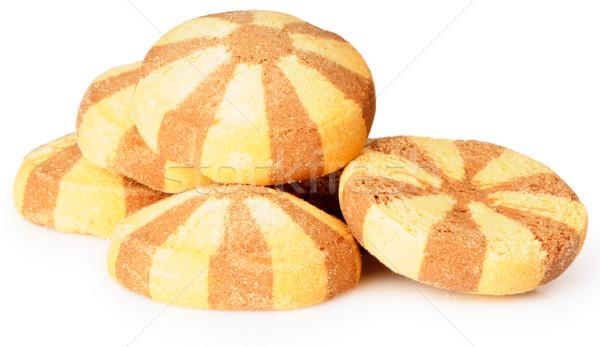 Beyaz kahverengi sarı kek Stok fotoğraf © vtls