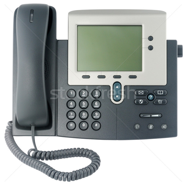 Office telephone set front view Stock photo © vtls
