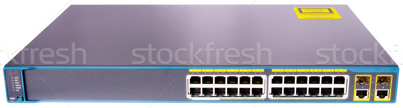 Rete ethernet switch fronte view 24 Foto d'archivio © vtls