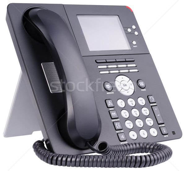 Office IP telephone on white Stock photo © vtls