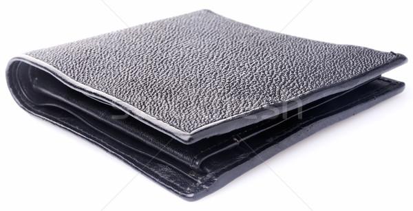 черный кожа бумажник патент белый Сток-фото © vtls