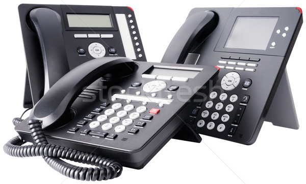 Three digital telephone sets Stock photo © vtls