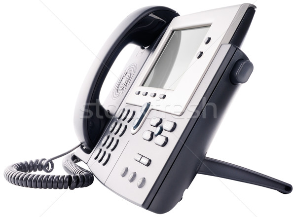 IP telephone isolated on white Stock photo © vtls