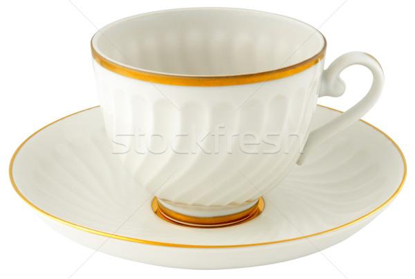 пусто Кубок блюдце изолированный белый Сток-фото © vtls