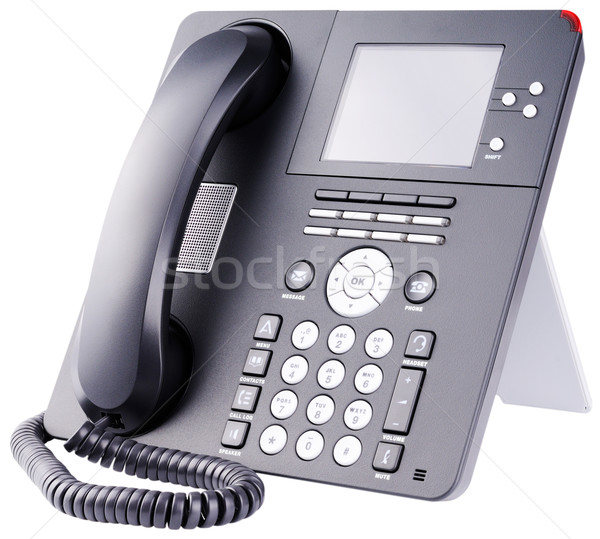 IP telephone on white Stock photo © vtls