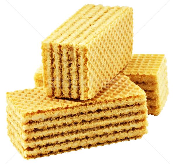 Beyaz üç yalıtılmış kek ekmek Stok fotoğraf © vtls
