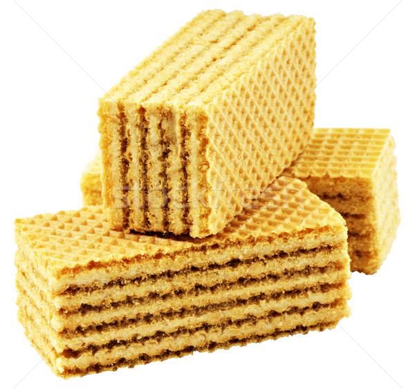 Waffles on white Stock photo © vtls