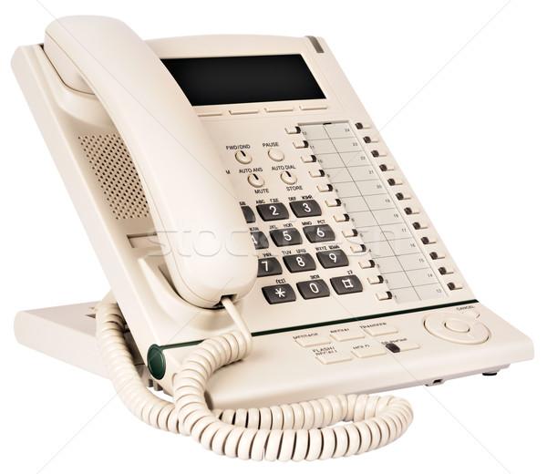 Office multi-button digital telephone Stock photo © vtls