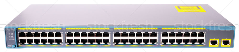 Network switch front view Stock photo © vtls