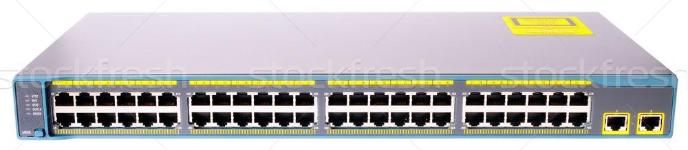 Sieci przełącznik front widoku portu szybko Zdjęcia stock © vtls