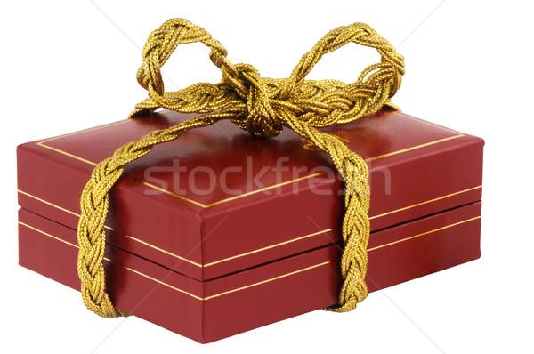 Yukarı takı kutu kırmızı yalıtılmış beyaz Stok fotoğraf © vtls