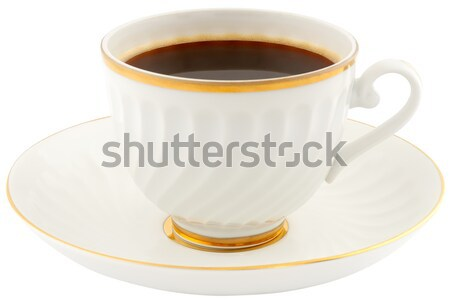 Tazza di caffè piattino porcellana Cup caffè isolato Foto d'archivio © vtls