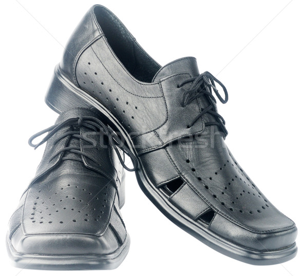 Chaussures isolé blanche paire noir Photo stock © vtls