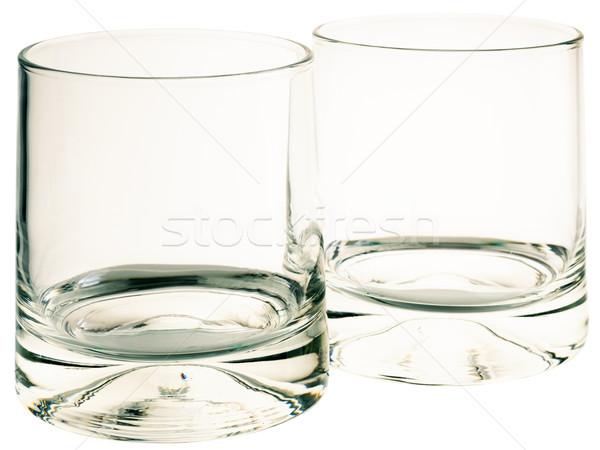 Lege drinken bril twee geïsoleerd witte Stockfoto © vtls
