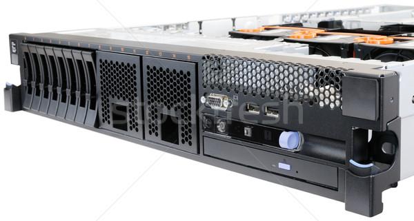 Stockfoto: Rack · serverrack · server · paneel