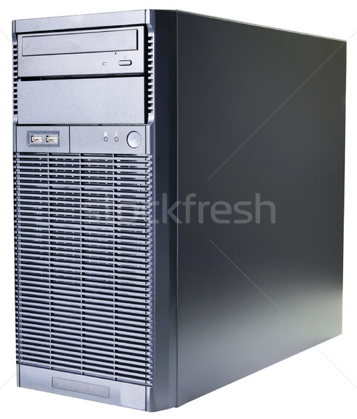 Desktop server geïsoleerd zwarte isometrische Stockfoto © vtls