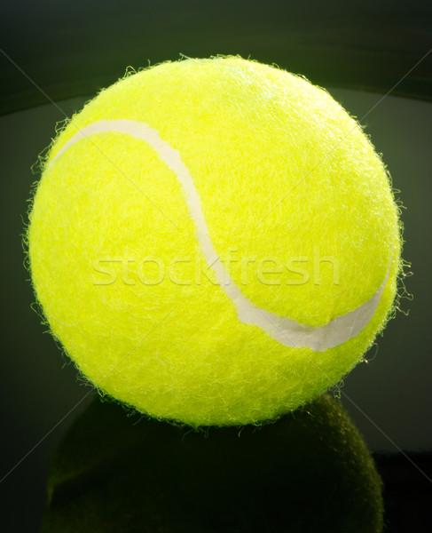 Tennisbal zwarte Geel tennis Stockfoto © vtls