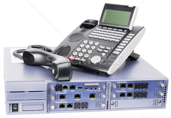 ストックフォト: 電話 · スイッチ · 電話 · セット · デジタル · 孤立した