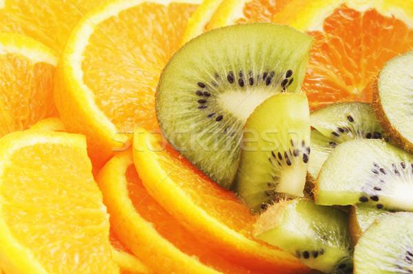 オレンジ キウイ フルーツ クローズアップ 食品 緑 ストックフォト © vtls