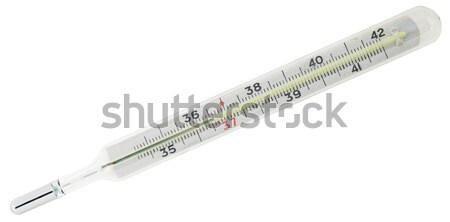 臨床の 計 ガラス 立って 孤立した 白 ストックフォト © vtls
