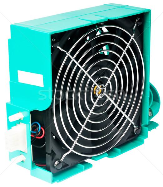 Szerverek ventillátor izolált zöld fölösleges szurkolók Stock fotó © vtls