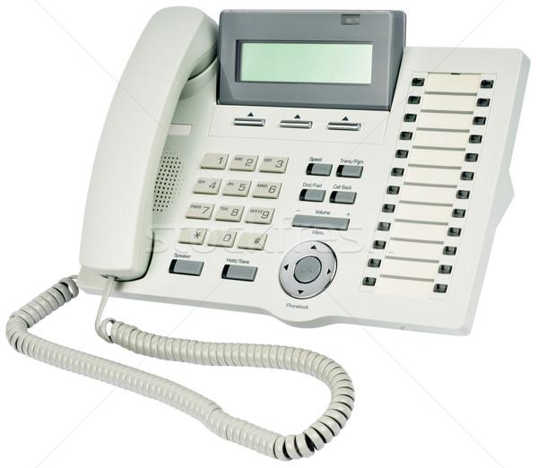 ストックフォト: オフィス · デジタル · 電話 · 光 · グレー · セット