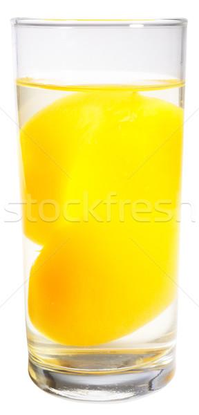 şeftali şurup soyulmuş cam şeker yalıtılmış Stok fotoğraf © vtls