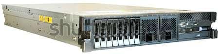 Stockfoto: Server · witte · rack · geïsoleerd · computer · zwarte