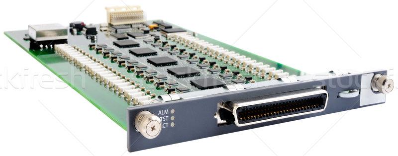 ストックフォト: 電話 · スイッチ · ボード · 電話 · 回路基板 · 孤立した