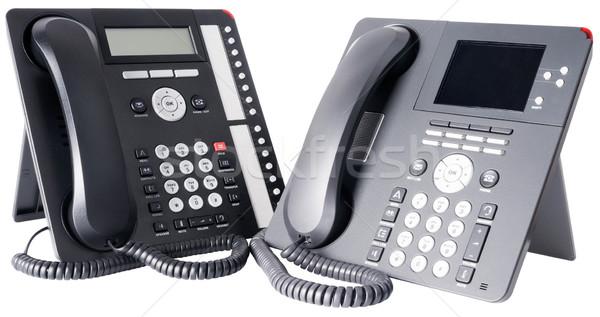 Two digital telephone sets Stock photo © vtls