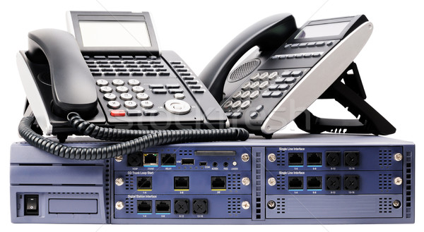 Phone switch and telephones Stock photo © vtls
