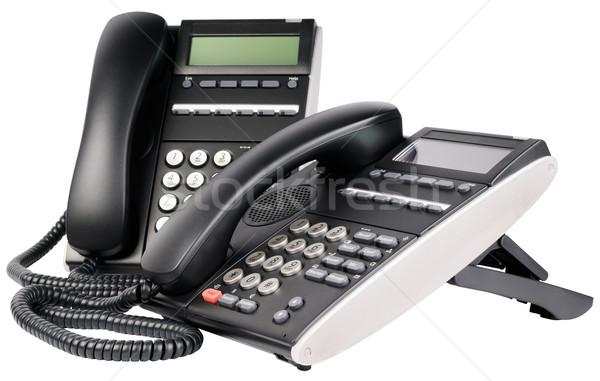 2 デジタル オフィス 電話 液晶 孤立した ストックフォト © vtls