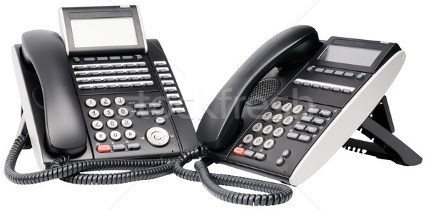 Twee digitale telefoon kantoor lcd geïsoleerd Stockfoto © vtls