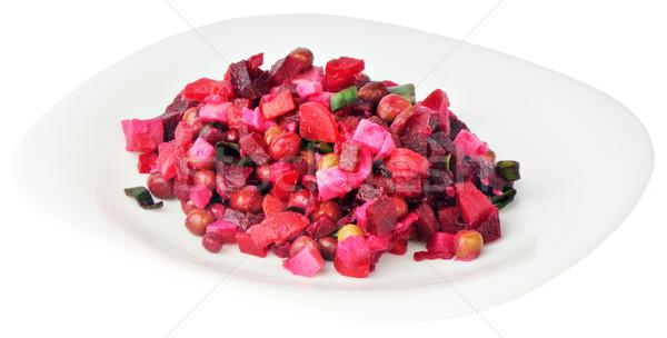 野菜 サラダ プレート 孤立した 白 赤 ストックフォト © vtls