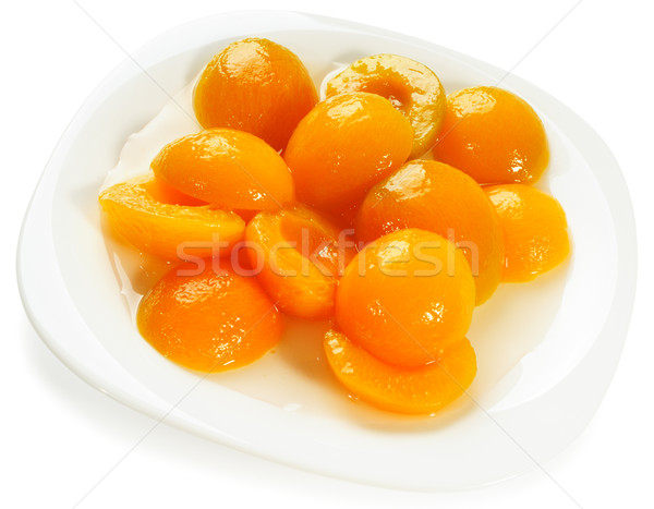 Apricot halves on plate Stock photo © vtls