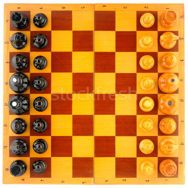 шахматная доска мнение изолированный белый Сток-фото © vtls