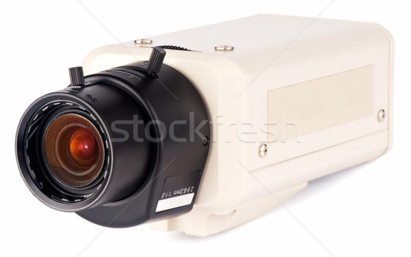 Felügyelet kamera izometrikus kilátás videókamera fehér Stock fotó © vtls