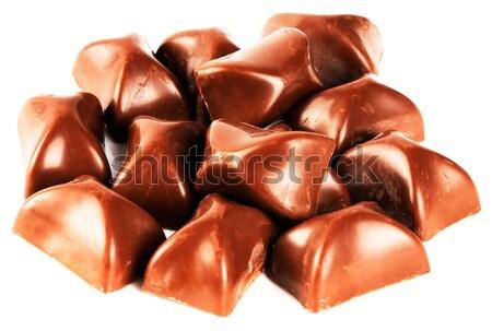 Chocolate candies over white Stock photo © vtls