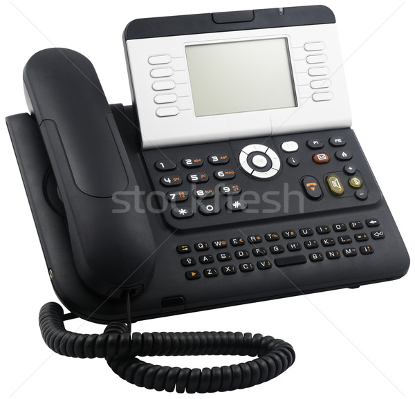 Digital telephone set, 10 soft keys Stock photo © vtls