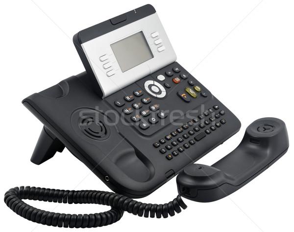 Stock photo: Office telephone set, 6 soft keys, off-hook