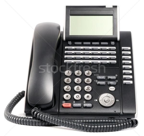 Digital telephone set over white Stock photo © vtls
